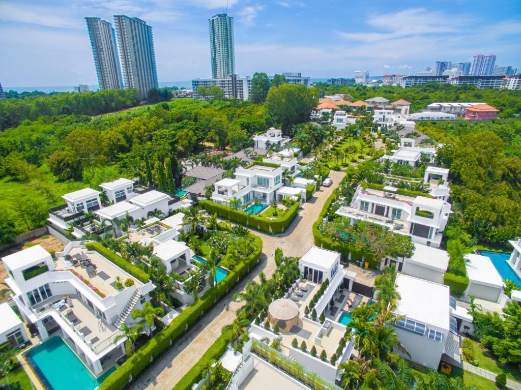 A bird's-eye view of Premium Pool Villa Pattaya