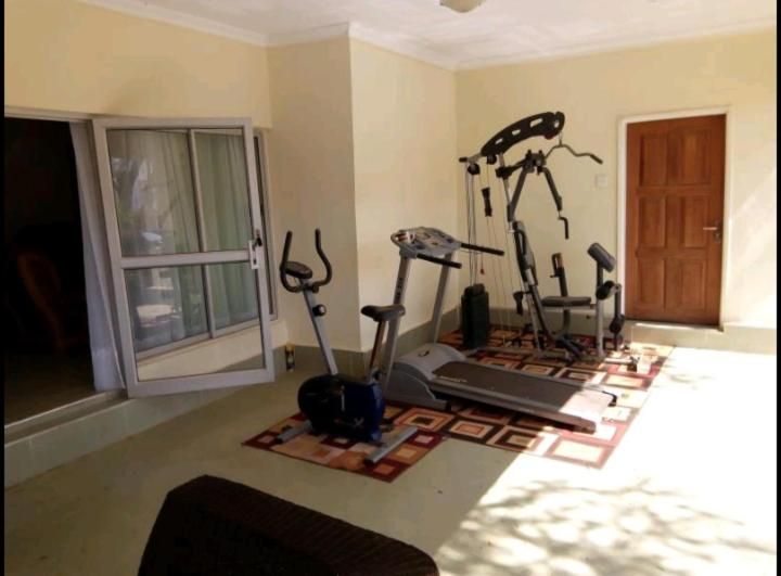 The fitness center and/or fitness facilities at Afrocentric Appartment