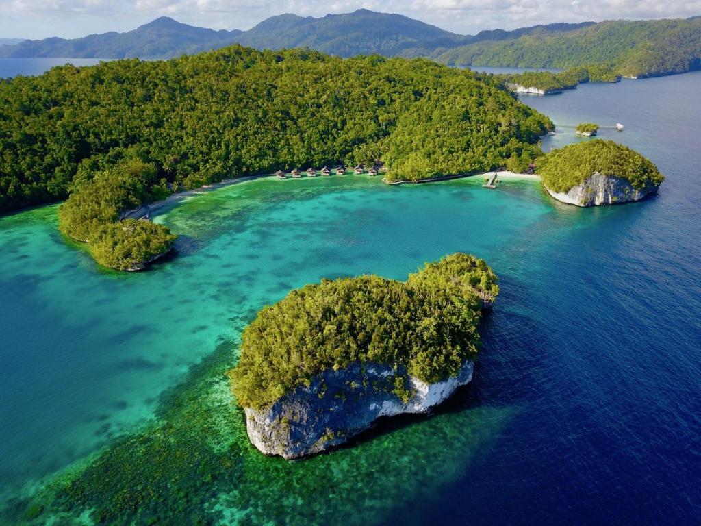 A bird's-eye view of Doberai Private Island