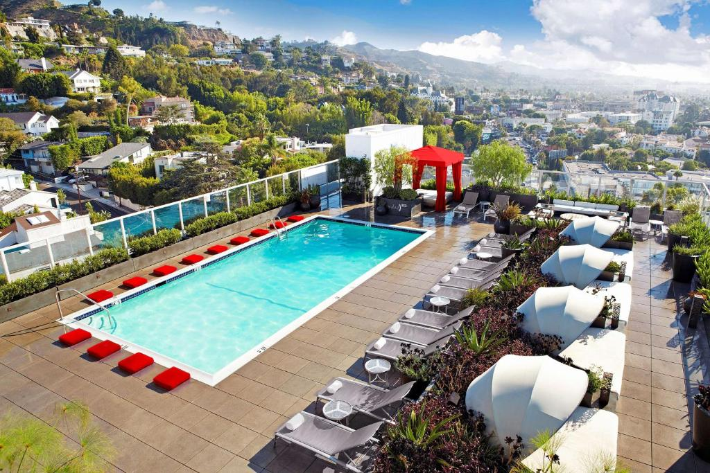 A view of the pool at Andaz West Hollywood-a concept by Hyatt or nearby