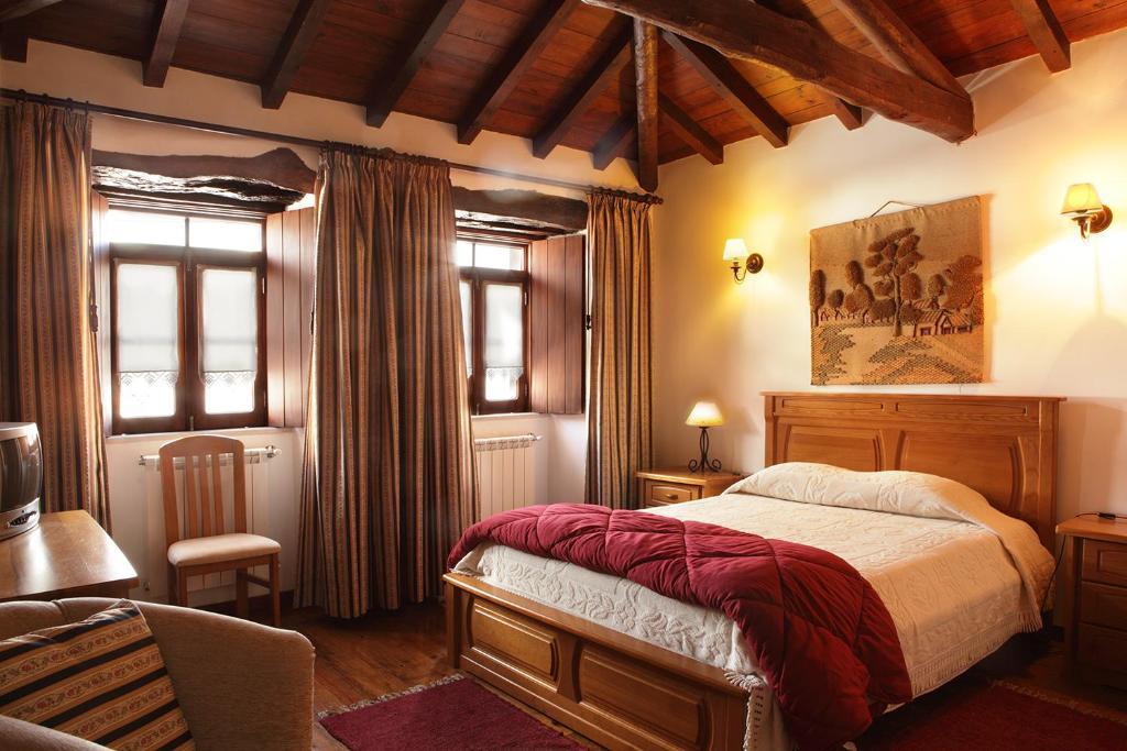 Uma cama ou camas num quarto em Casa da Eira