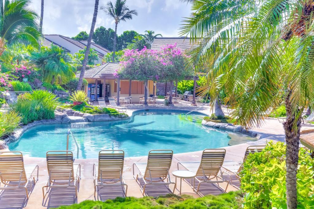 The swimming pool at or near Maui Kamaole L208