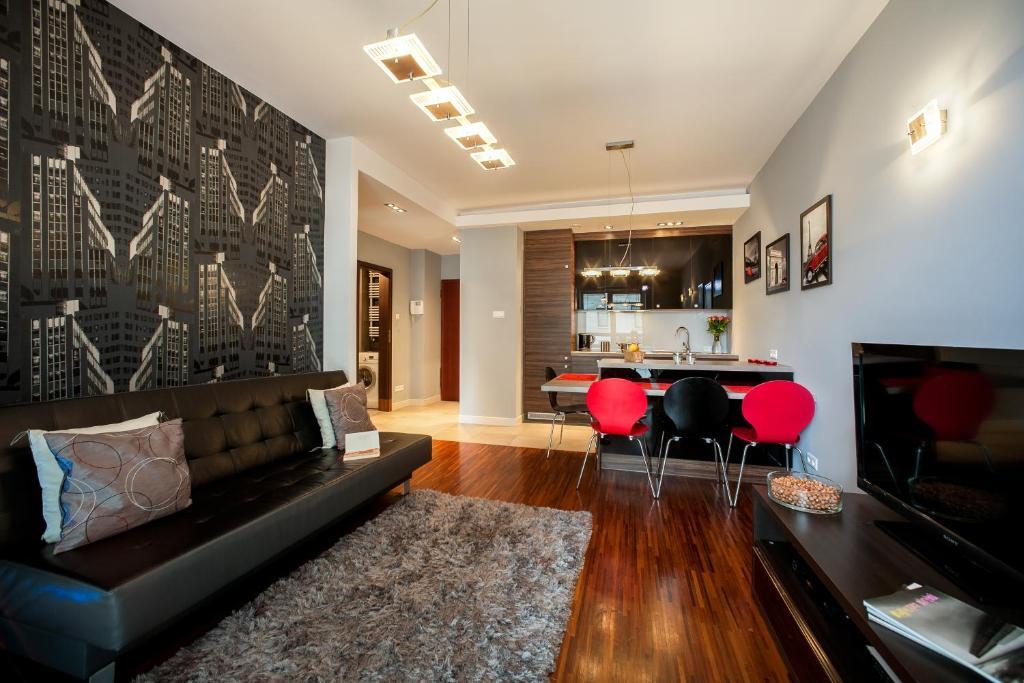 Setusvæði á Platinum Towers E-Apartments
