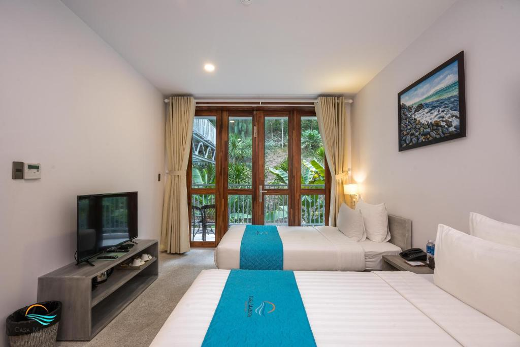 Phòng 2 Giường Đơn Nhìn Ra Khu Vườn