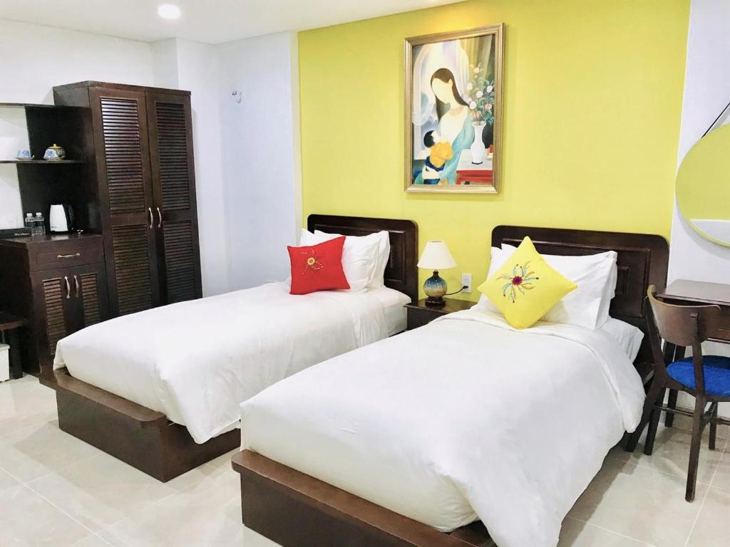 Phòng Giường Đôi/2 Giường Đơn Không Có Cửa Sổ Với Dịch Vụ Giặt Là Miễn Phí