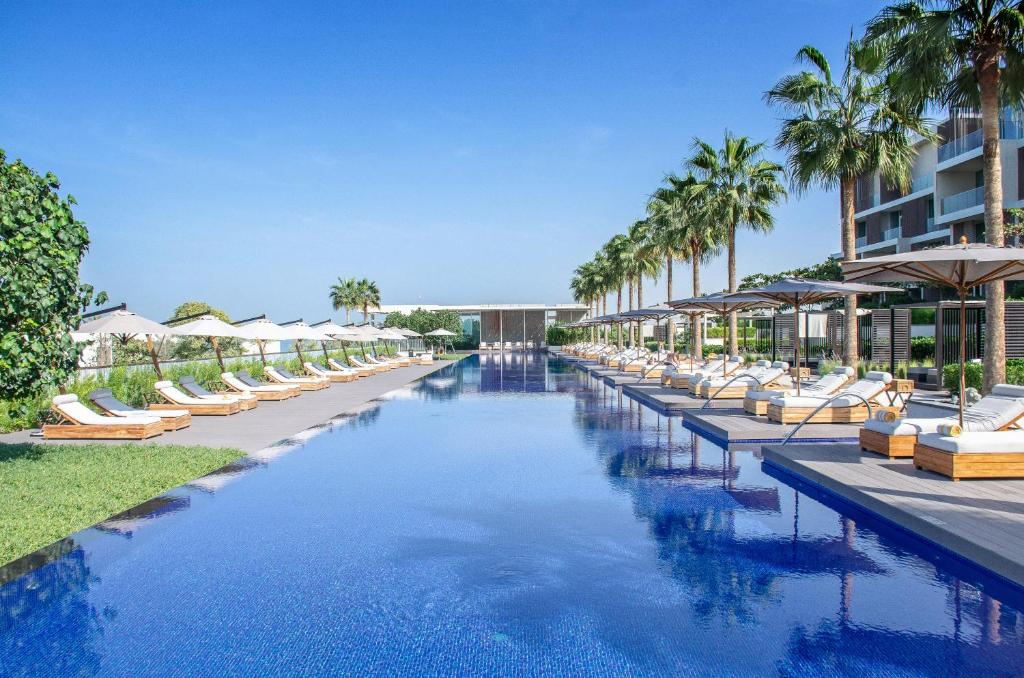The swimming pool at or near The Oberoi Beach Resort, Al Zorah