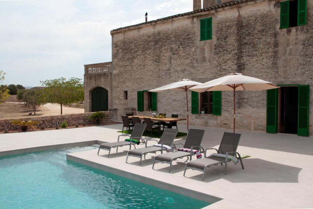 The swimming pool at or near Son Veri Dalt