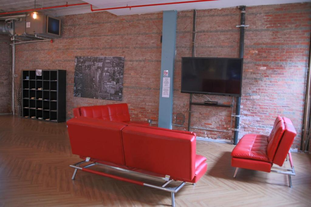 A seating area at International Students Residences
