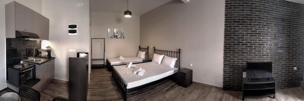 Χώρος καθιστικού στο Meteora House- Cozy Living