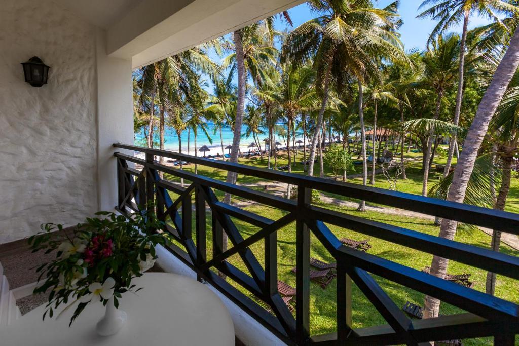 A balcony or terrace at Diani Sea Resort - All Inclusive
