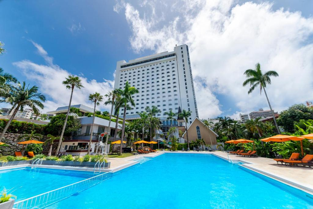 The swimming pool at or near DoubleTree by Hilton Hotel Naha Shuri Castle