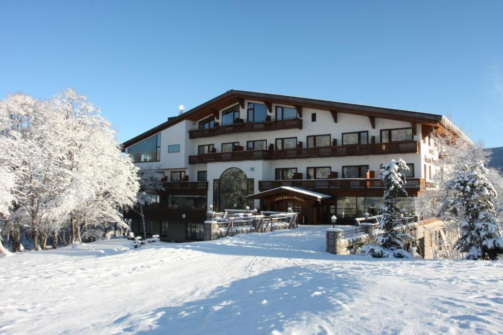 冬のホテルグランフェニックス奥志賀の様子