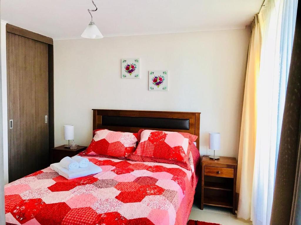 Cama o camas de una habitación en Full Moneda 909