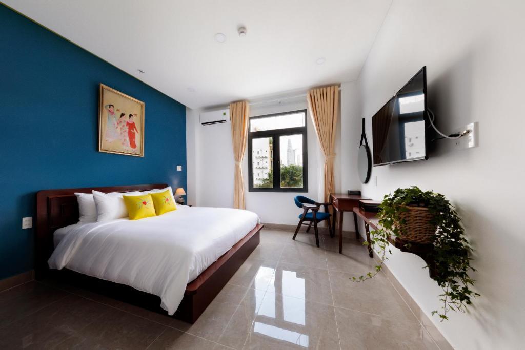 Phòng Deluxe Giường Đôi Nhìn Ra Thành Phố Với Dịch Vụ Giặt Là