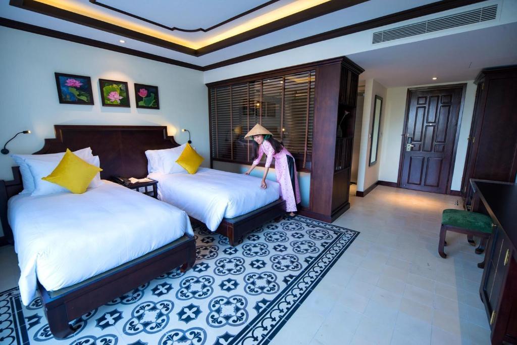 Phòng Trendy Deluxe Giường Đôi/2 Giường Đơn Với Ban Công