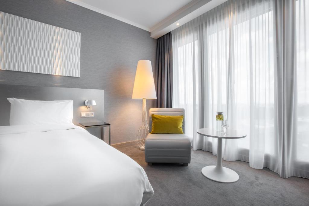 Lova arba lovos apgyvendinimo įstaigoje Radisson Blu Hotel Hannover