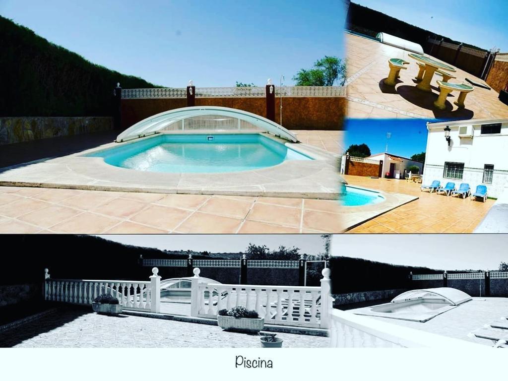 The swimming pool at or near HABITACIONES RURALES