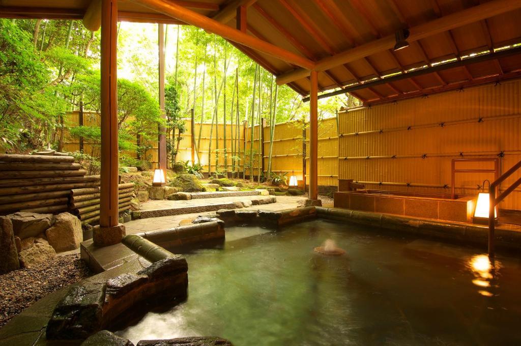 The swimming pool at or near Arima Onsen Taketoritei Maruyama