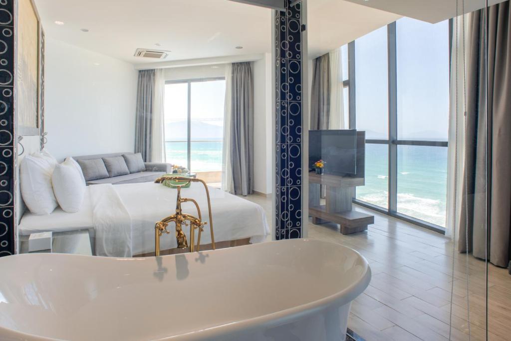 Phòng Giường Đôi Deluxe Nhìn ra Phía Biển