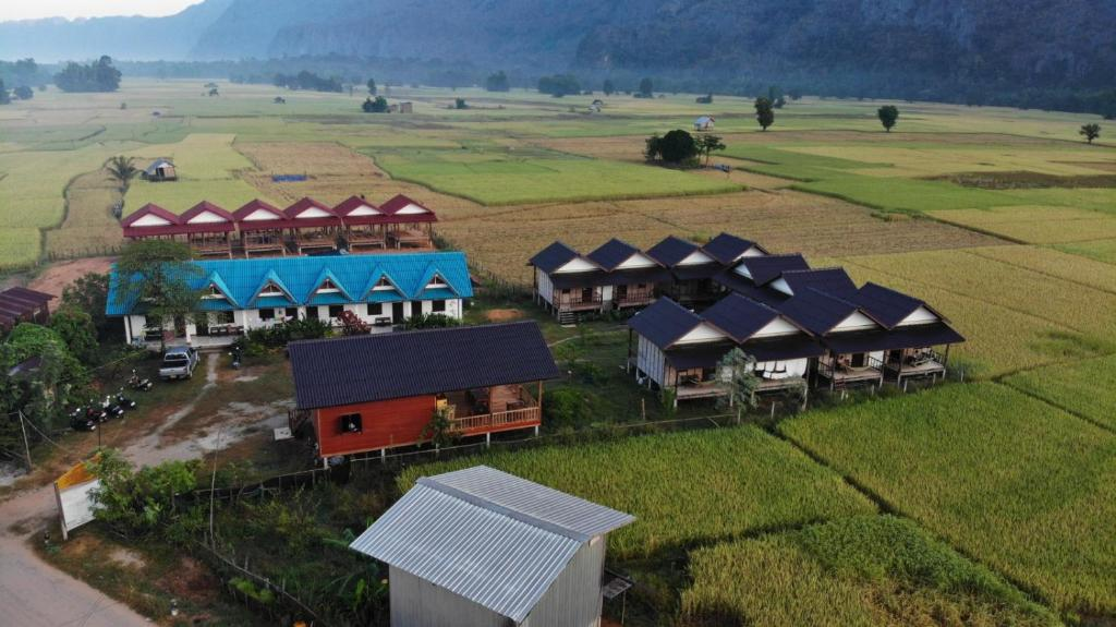 A bird's-eye view of Thongdam Guesthouse