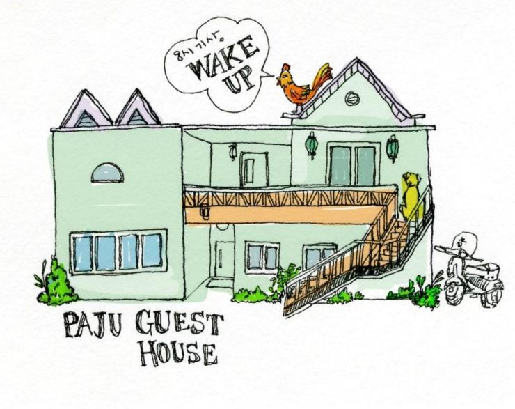The floor plan of Paju Guesthouse