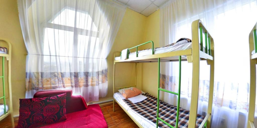 A bunk bed or bunk beds in a room at Hostel Voyage