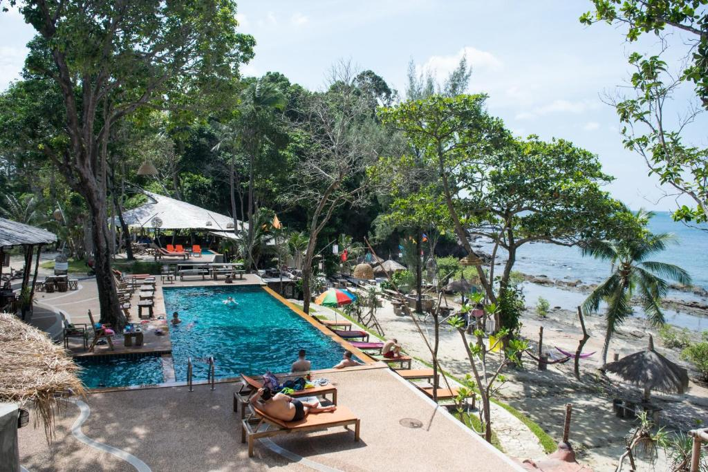 A view of the pool at Coco Cape Lanta Resort or nearby