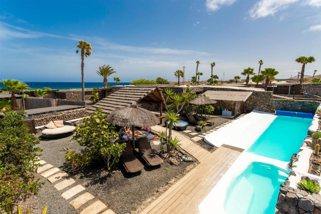 A view of the pool at Eco Village Finca De Arrieta or nearby