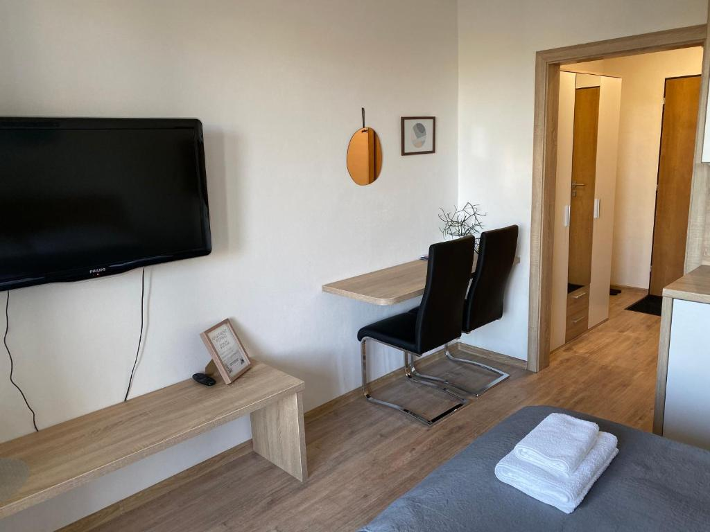 A television and/or entertainment center at Apartment Poprad