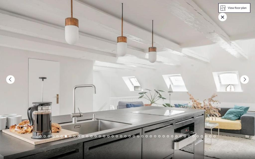 A kitchen or kitchenette at Heart of Copenhagen - Luxury