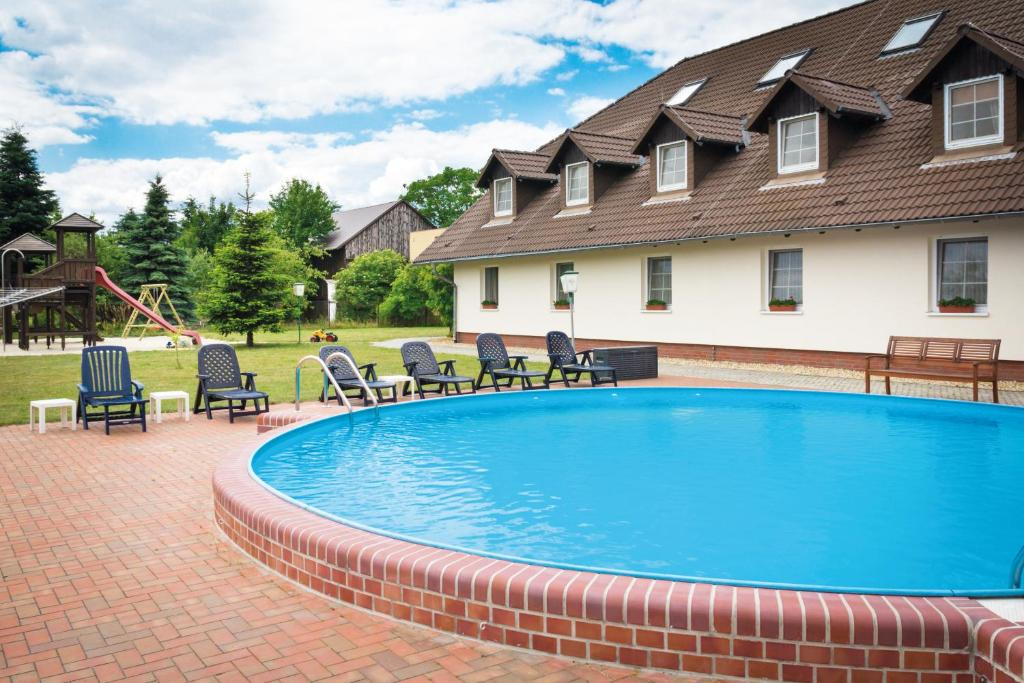 The swimming pool at or near Ferien Hotel Spreewald