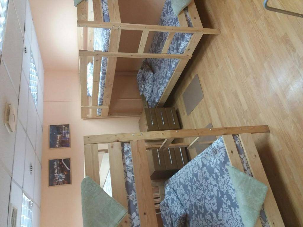A bunk bed or bunk beds in a room at Butlerov Hostel