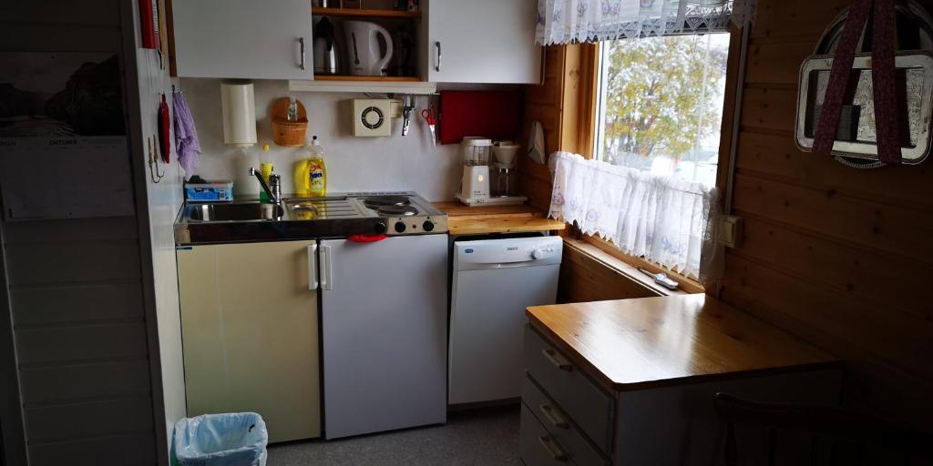 Kjøkken eller kjøkkenkrok på Kvænangen Adventure