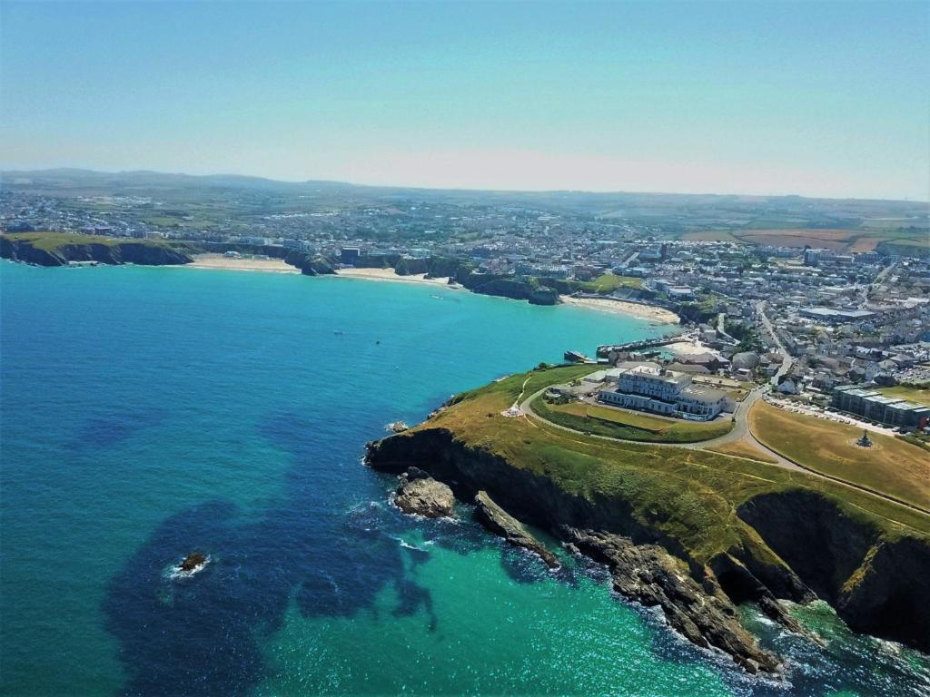 A bird's-eye view of Atlantic Hotel Newquay