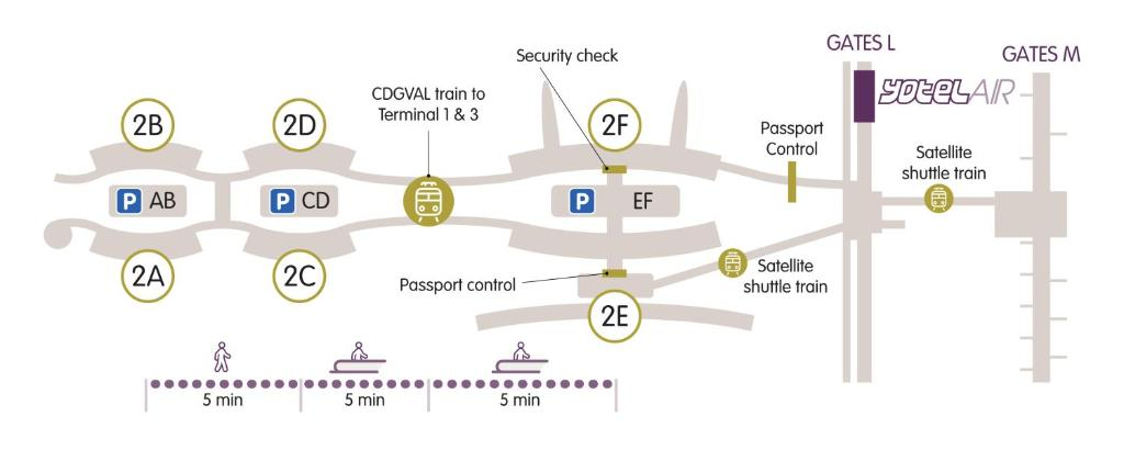 cdg map terminal 2e Yotelair Paris Cdg Roissy En France France Booking Com cdg map terminal 2e