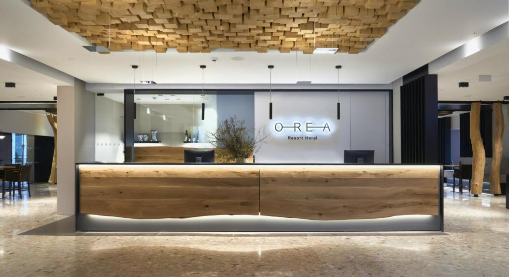 The lobby or reception area at Orea Resort Horal