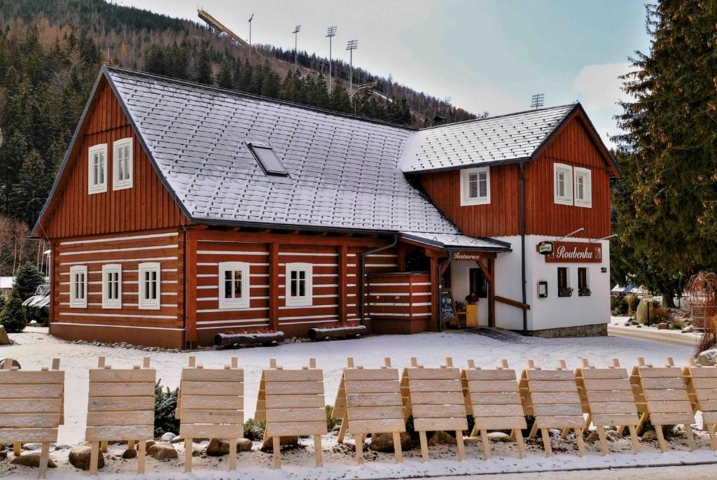 Pension Roubenka v zimě