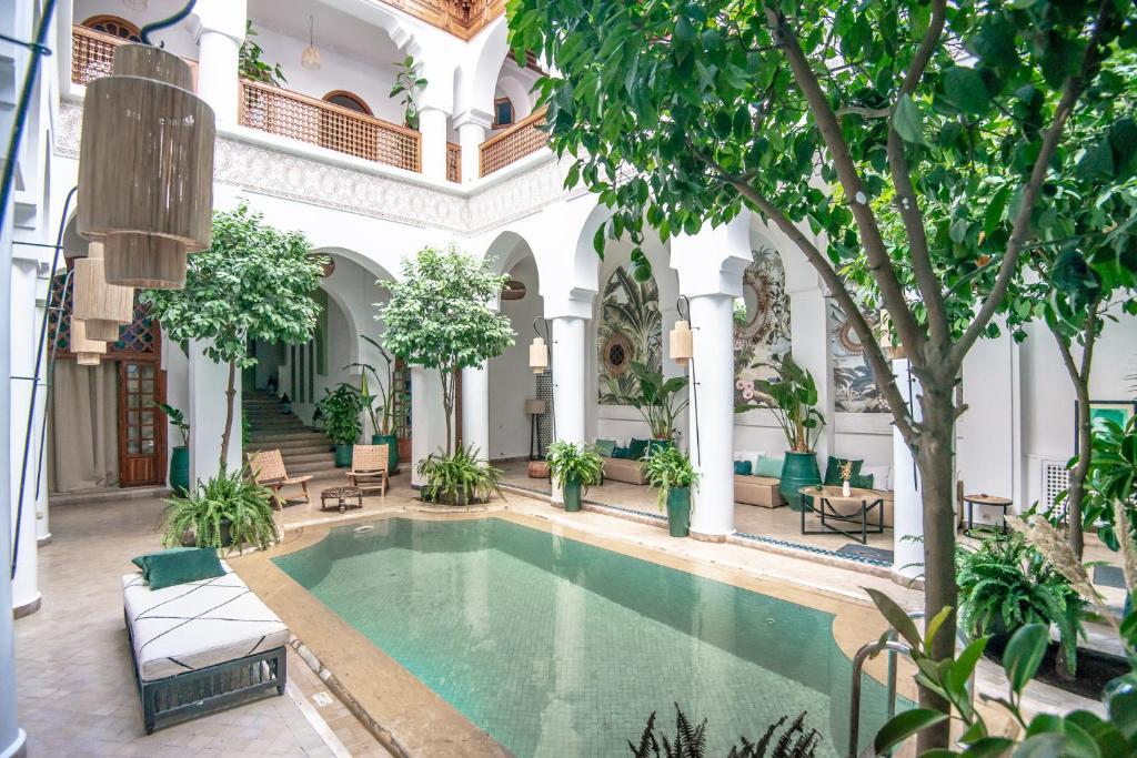 The swimming pool at or near Riad Palais Calipau