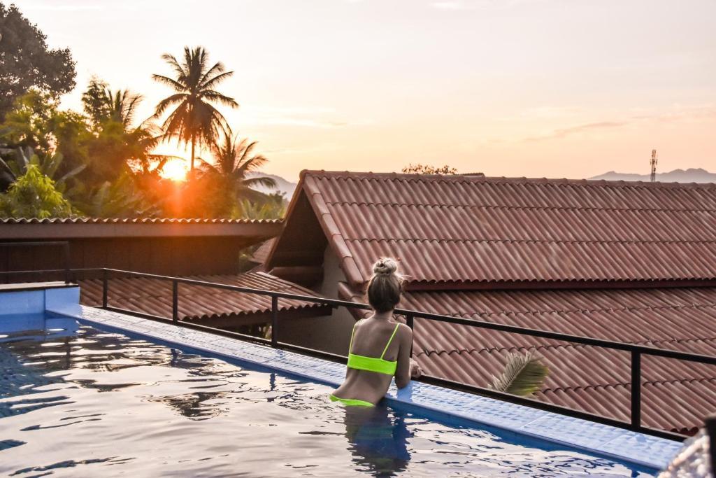 The swimming pool at or near Mad Monkey Luang Prabang