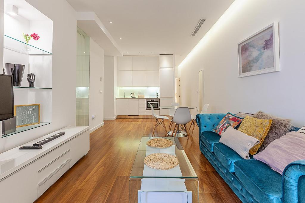 Zona de estar de Las Rejas Apartment