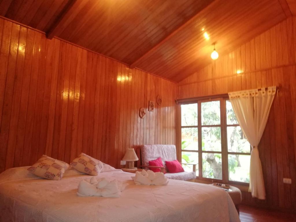 Cama o camas de una habitación en Carolina Egg Gasthaus