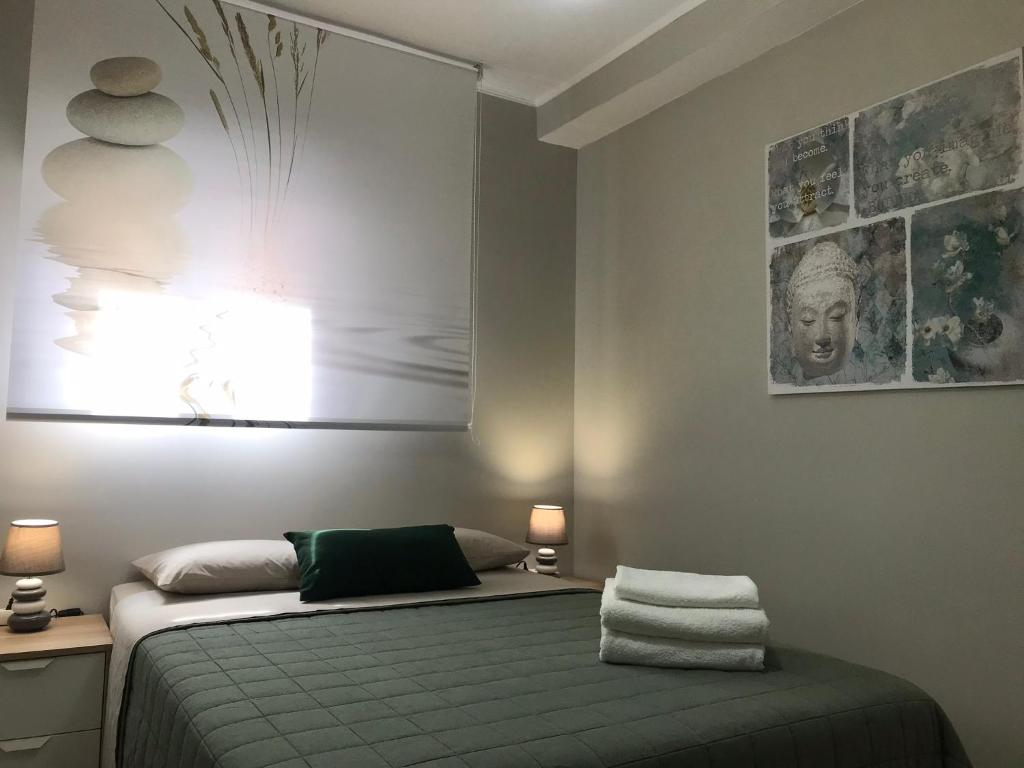A bed or beds in a room at A casa mia!