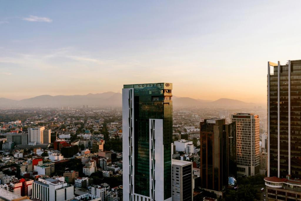 A general view of Mexico City or a view of the city taken from the hotel