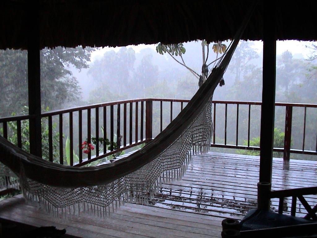 A balcony or terrace at La Ceiba Reserva Natural