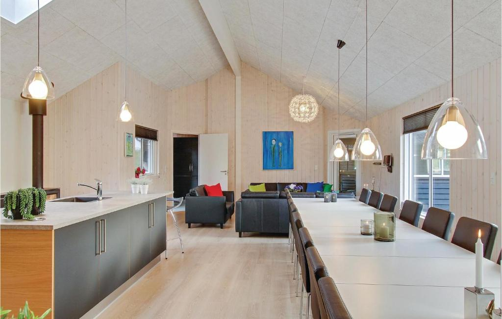 Eight-Bedroom Holiday home with a Fireplace in Glesborg