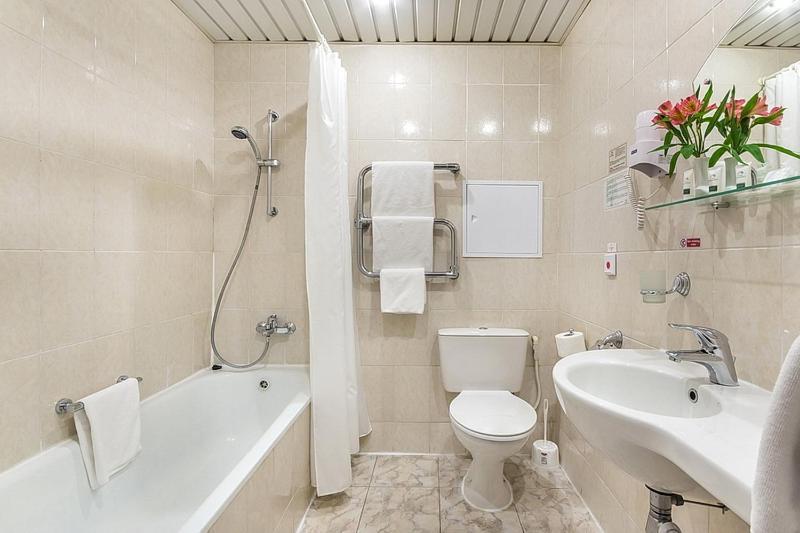 Ванная комната в Гостиница Будапешт
