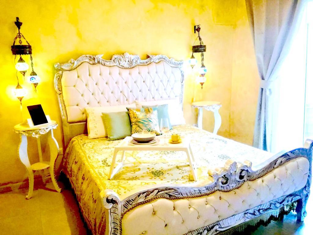 Letto o letti in una camera di Borgo Salentino