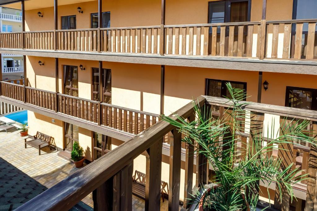A balcony or terrace at Guest House Klever