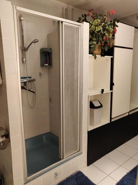 A bathroom at Gezellig appartement 1e etage