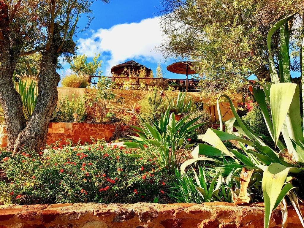 A garden outside Gato Preto de Silves - Adults Only